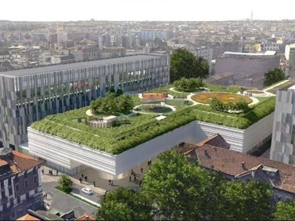 Il verde integrato sui tetti degli edifici!